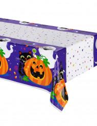 Tischdecke aus Plastik für Halloween Kürbis und Co. 213 x 137 cm
