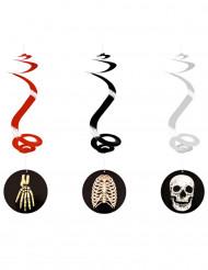Skelett-Spiralen zum Aufhängen 60cm