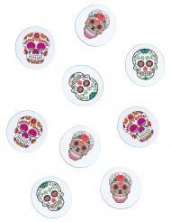 Tisch-Konfetti mit Totenköpfen