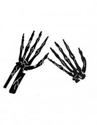 6 Skeletthände Halloween-Deko schwarz