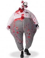 Aufblasbares Clown aus der Hölle Kostüm für Erwachsene