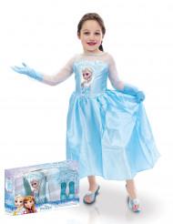 Elsa Frozen™ Kostüm mit Schuhen und Handschuhen