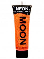 Orangefarbenes UV-Glitzergel für Körper und Gesicht von Moonglow 12ml