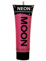 UV Glitzer-Gel für Gesicht und Körper pink 12ml von Moonglow