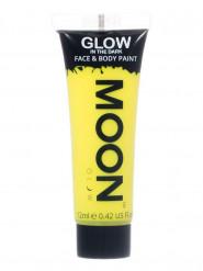 Gelbe Schminkfarbe für Gesicht und Körper fluoreszierend von Moonglow 12ml