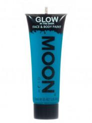 Blaue phosphoreszierende Schminkfarbe für Gesicht und Körper von Moonglow