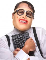 Streber Halbmaske aus Latex für Erwachsene