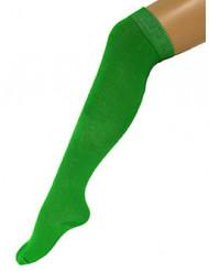 Lange grüne Socken für Erwachsene 53 cm