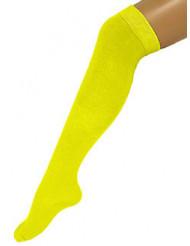 Lange Socken für Erwachsene in Neongelb 53 cm