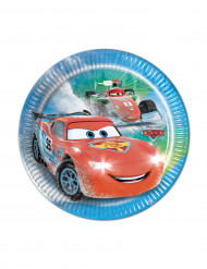 8 kleine Pappteller Cars Ice Racers
