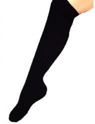 Schwarze Kniestrümpfe 53cm für Erwachsene