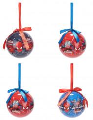 4 Spiderman™ Weihnachtskugeln