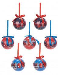 7 Spiderman™ Weihnachtskugeln