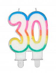 Geburtstagskerze mit der Zahl 30