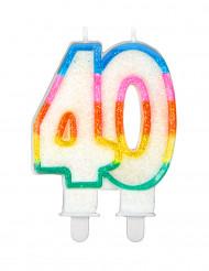 Geburtstagskerze mit der Zahl 40