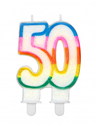 Geburtstagskerze mit der Zahl 50