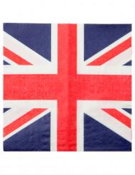 20 britisch dekorierte Papierservietten 33 x 33 cm