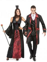Schwarz-rot Vampir Paarkostüm
