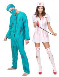 Zombie Chirurgen & Krankenschwester - Paarkostüm Halloween