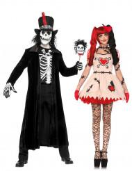 Voodoo-Zauberer & Voodoo-Puppe - Paarkostüm