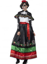 Mexikanisches Dia de los Muertos Kostüm für Damen