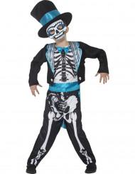 Skelett Kostüm ür Jungen blau