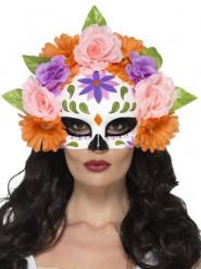 Tag der Toten Halbmaske Rosen für Erwachsene bunt