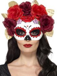 Dia de los Muertos Rosen-Maske für Erwachsene