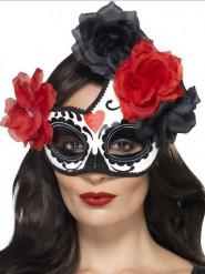 Accessoire Maske bunt mit Rosen für Damen