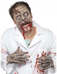 Latex-Zombiemaske und -hände für Erwachsene