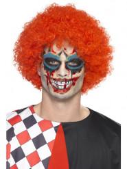 Kit schelmischer Clown Tattoo mit Make-up und Kunstblut Erwachsene Halloween