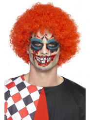 Kit schelmischer Clown Tattoo mit Make-up und Kunstblut Erwachsene Halloween
