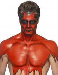 Latex Make-Up flüssig mit Schaumstoff-Applikator rot