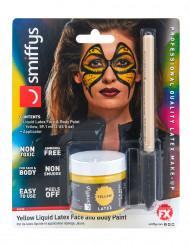 Make-up aus flüssigem Latex mit Schwamm-Applikator,59 ml in Gelb