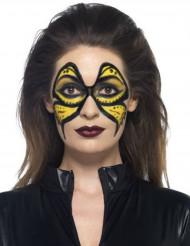 Make-up aus flüssigem Latex mit Schwamm-Applikator,  59 ml in Gelb