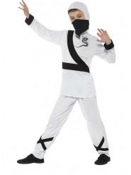 Weißes Ninjakostüm für Kinder