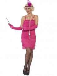 20er Charleston Damenkostüm pink