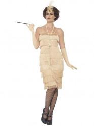 Charleston Kostüm für Damen beige
