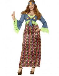 70er Hippie Plus Size Damenkostüm bunt