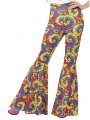 Hippie Schlaghose für Damen bunt