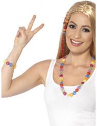 Hippie Halskette und Armband für Erwachsene