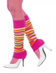 Neon-Beinstulpen für Damen pink-bunt