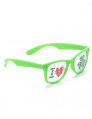 Grüne St. Patrick's Spaßbrille für Erwachsene