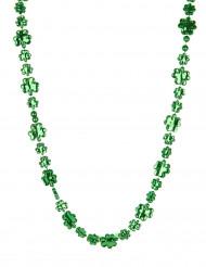 Kleeblatt Halskette St. Patrick's Day grün
