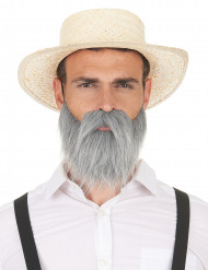 Grauer Schnurrbart und Bart für Erwachsene