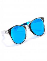 Riesen-Brille für Erwachsene silber-blau