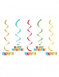 5 Aufhänger Happy Birthday