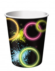 8 Pappbecher Glow Party 266 ml