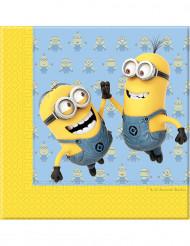 20 Papierservietten niedliche Minions™ 33 x 33 cm