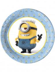 8 schöne Minions™ Pappteller Durchmesser 19 Zoll